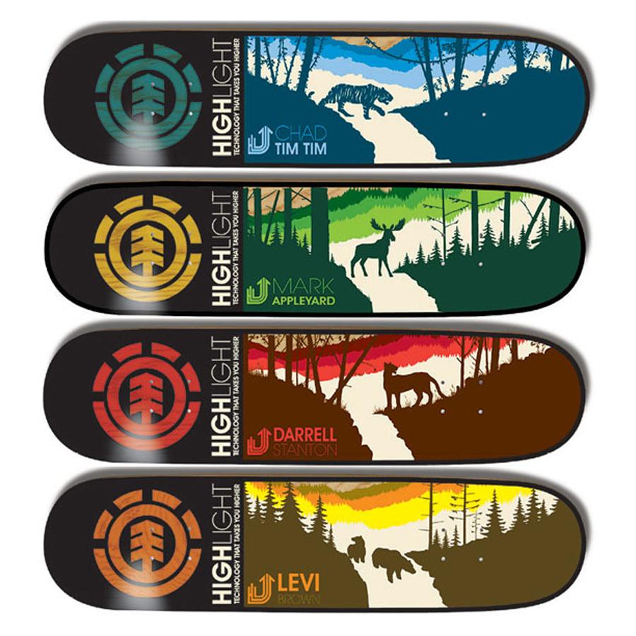 Skateboard art by Element