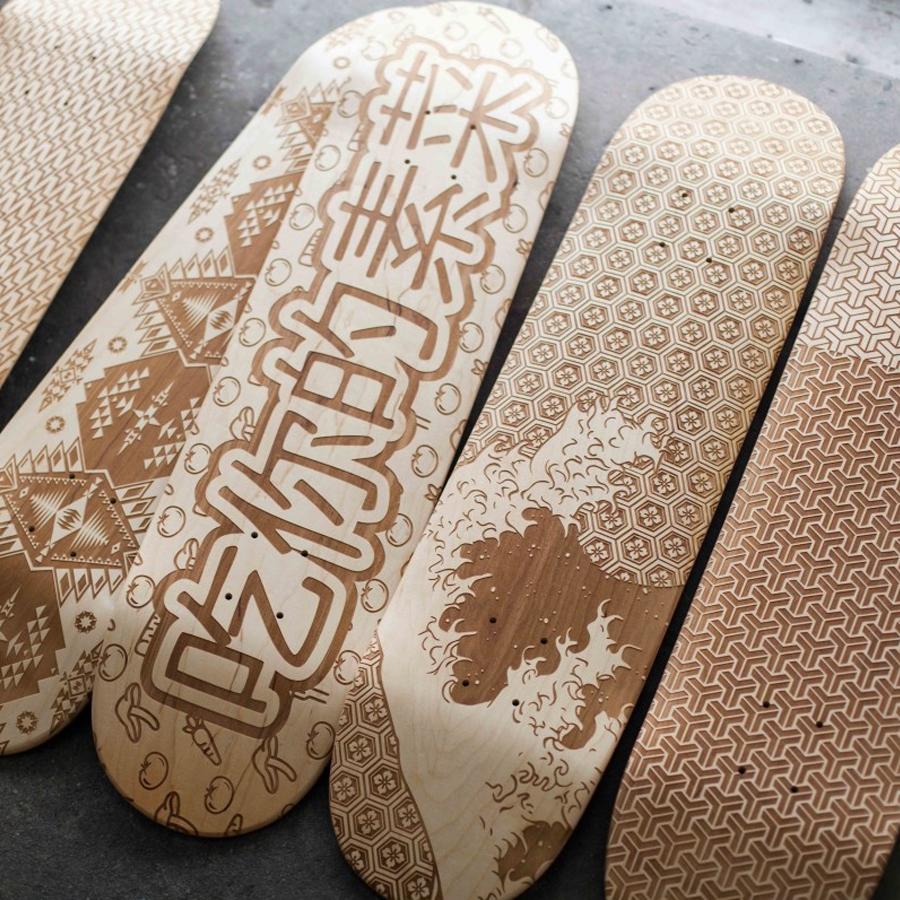Skateboard art by Magnetic Kitchen