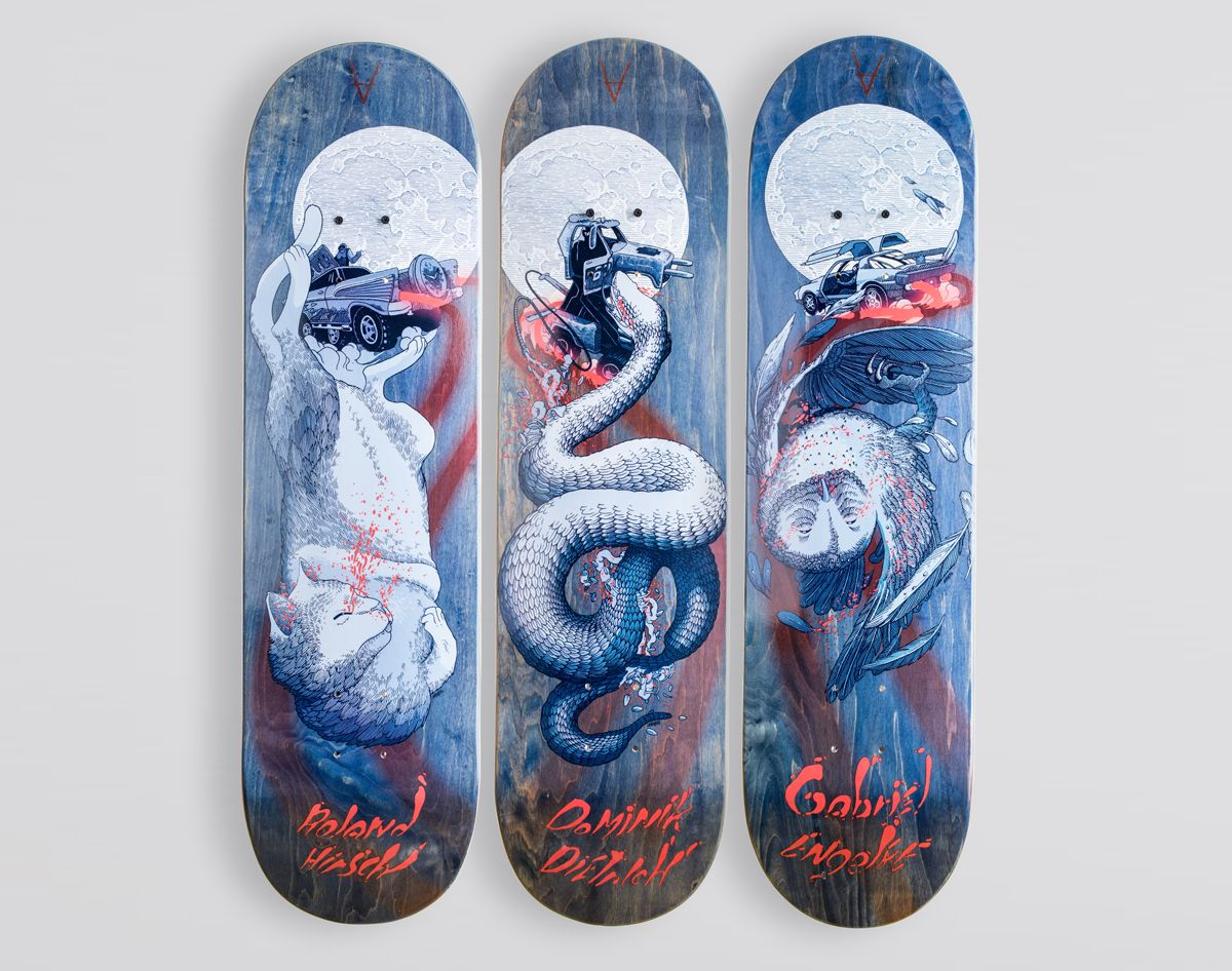 Antiz x Gregory Pouillat skateboards